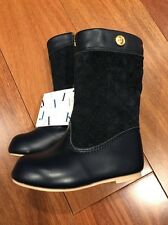 NWT Janie & Jack Quilted Riding Boots Toddler Size 5 Navy Blue Leather Suede