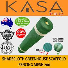 GREEN 90% 3.66 x 30m Shade Cloth Shadecloth Greenhouse Scaffold Fencing Mesh 200
