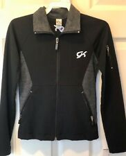 GK ELITE FITTED WARM UP JACKET CHILD SMALL BLACK GRAY FULL FRONT ZIP CS NWT!