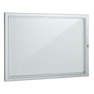 Tableau d'affichage en aluminium avec porte en altuglas vérouillable