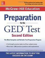 McGrawHill Education Preparation for the GED Test 2nd Edition, New