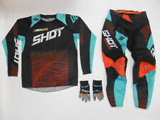 SHOT AEROLITE MOTOCROSS OFFROAD RIDING GEAR 30 MEDIUM DIRTBIKE KTM MINT ORANGE