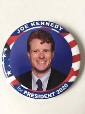 "2020 Congressman Joe Kennedy for President 3"" Button Pin Kennedy Family Flag"