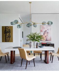 Modern 8 Glass Ball Nordic Dining Living Room Bedroom Pendant Hanging Lamp