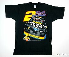 VTG Rusty Wallace NASCAR T-Shirt XL Miller MGD Ford Thunderbird Double Sided