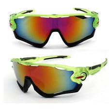 Sunglasses Green Yellow Road Bike Cycling Aero Helmet Sun Glasses Time Trial MTB
