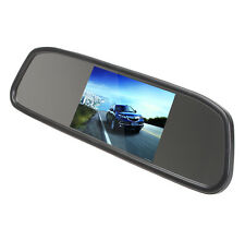 4.3 Inch Color TFT LCD Screen Car Rear View Mirror Monitor 2-CH Input 480x272