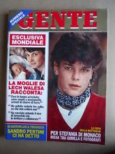 GENTE n°13 1982 Stephanie di Monaco Pertini Lech Walesa Bjorn Borg [Q8]