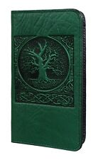 World Tree Green Celtic Leather Checkbook Cover Oberon Design COMBINED SHIPPING