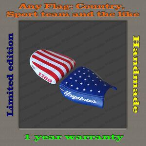 CUSTOM Design Seat Cover Suzuki GSX-R1300 Hayabusa 99-07 HAND-MADE flag USA