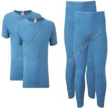Boxer e intimo da uomo blu in misto cotone taglia S