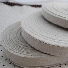 2 Metres Plain Linen Cotton Fabric Ribbon Tape Trim Blank Sewing Label - 2cm