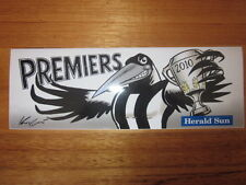 HERALD SUN AFL COLLINGWOOD MAGPIES 2010 PREMIERSHIP PREMIERS BUMPER STICKER