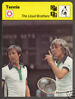 DAVID & JOHN LLOYD British Tennis Brothers Photo 1979 SPORTSCASTER CARD 54-17A