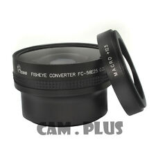 58mm 0.25x Wide-Angle Fisheye + 12.5 Macro Lens For Canon Nikon Sony Camera