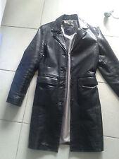 TRANSMISSION REDSKINS manteau cuir veritable vachette  XS 34 36  comme neuf