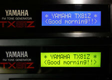 NEW LCD display for Yamaha TX81Z FM Rack Synth Replacement Repair Blue or Green