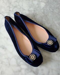 Kate Spade Blue Velvet Flats Shoes Sz 10