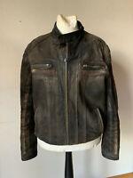 Bomberjacke Harrington Lederjacke braun schwarz 80er vintage grunge 52 54