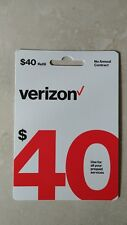 $40 Verizon Wireless Prepaid Refill Card, Email Delivery Fast!!!