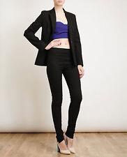 Acne Women's Black Best Stretch Linen-Blend Trousers size 42