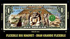 IRON MAIDEN POWERSLAVE IMAN BILLETE 1 DOLLAR BILL MAGNET