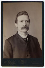CABINET CARD MAN WITH SOUP STRAINER MUSTACHE. ALLEGHENY, PA.