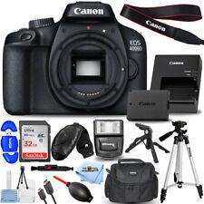 Canon EOS 4000D / Rebel T100 DSLR Camera (Body) + 32GB + Flash + Tripod Bundle