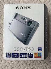 VINTAGE Sony CYBERSHOT Camera 7.2 MP TOUCH Panel DBL Anti DSC-T50 Box + Manual