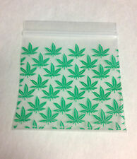 100 Green Marjiuana Leaf 2x2 Cannabis Baggies 2020 Tiny Poly Ziplock Dime Bags