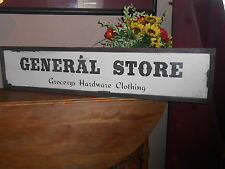 "GENERAL STORE Vintage Antique Style primitive wood sign 9"" X 40.5"" raised border"