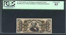 1864-69 50 Cents Fractional Currency Fr-1328 Certified By Pcgs Choice New-63
