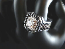 14K White Round Cut Simulate Diamond Engagement Eternity Ring Ladies Women Band