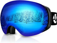 Snowboard Ski Goggles, Magnetic & Clip Locking Interchangeable Lens  (VLT 10.5%)