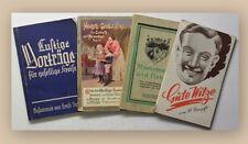 Konvolut Gute Witze 4 Bde um 1942 Humor Belletristik Sammlungen xy