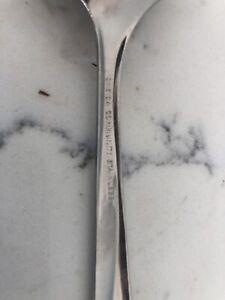 Vintage STARBURST Stainless Slotted Spoon Serving Oneida Mid Century Modern Star