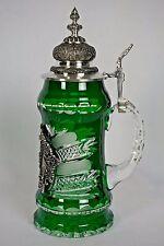Lord Of Crystal King Werk Green German Beer Stein Bohemian 16oz #43 of 500 NEW!