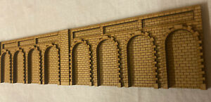 TR70 2x 00/HO Gauge Retaining Walls Inc Arches. Train Model Kit. Scenery.