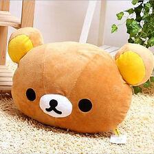 FD4392 Rilakkuma San-X Car Bear Head Plush Cushion Pillow ~Brown Color~ 1pc