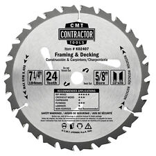 """CMT K02407 Framing and Decking Circular Saw Blade, 7-1/4"""", 24 Tooth  (10 pack)"""