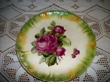 ANTIQUE CHIC GERMANY LUSTERWARE ROSES PLATE SHABBY COTTAGE LARGE