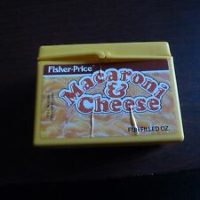 VINTAGE Fisher Price Macaroni And Cheese Play Food Plastic Toy MacNCheese