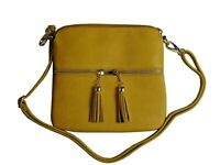 Women Handbag Crossbody Tassel Messenger bag Shoulder Handbag Leather Crossover