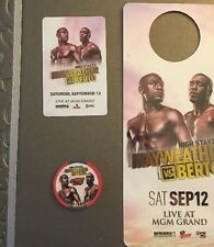 Floyd Mayweather Jr v Andre Berto MGM Grand Room Key & Door Card $5 Casino Chip