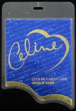 Celine Dion Let's Talk About Love 1998 1999 World Tour Laminate Backstage Pass