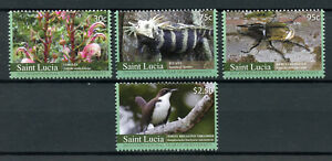 St Lucia 2010 MNH Intl Yr Biodiversity 4v Set Birds Lizards Beetles Stamps