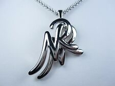 "pendant - 30"" length 0784 Nina Ricci Rhodium Plated Nr logo"