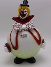 Murano Glass Clown Made In Venice Italy Vetreria Pitau with Original Sticker