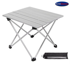 Portable Camping Side Table Ultralight Folding Table with Aluminum Table Top