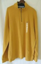 Tommy Hilfiger 1/4 Zip Pull Over Long Sleeve Old Gold Size XXL New! #9919